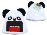 Domo kun in Panda Bear Plush Fur Beanie Hat