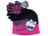 Monster High Skull Logo 2pc Gloves, Beanie Set - Big Logo