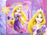 Disney Princess  Tangled Rapunzel Plush Mink  Blanket  Raschel Throw : Twin Size