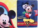 Disney Mickey Mouse Raschel Plush Blanket Twin - Mickey Flight Academy