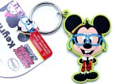 Disney Mickey Mouse Nerd PVC Key Chian