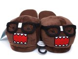 Domo kun Nerd 3D Plush Slipper : Adults 's Size Large