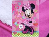 Disney Minnie Mouse Plush Throw Micro-Sherpa Blanket (60x80)- Sping into Fun