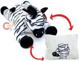 Fiesta Zebra Peek-A-Boo Plush Transforming Pillow