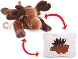 Fiesta Moose Peek-A-Boo Plush Transforming Pillow