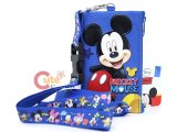 Disney Mickey Mouse Lanyard with Coin Wallet -Blue