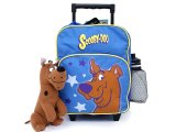 Scooby Doo Toddler School Roller Backpack with Plush Doll -Blue