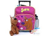 Scooby Doo Toddler School Roller Backpack with Plush Doll - Pink