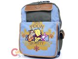 Winnie Pooh and Friends Canvas  Large School Backpack