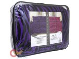 Pink Zebra Purple Zebra Reversible Queen Faux Fur Bedspread With Pillow Cover