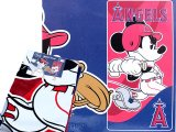 MLB Anaheim Angels  Beach, Bath Towel -Mickey Mouse Player