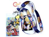 Dragon Ball  Z Lanyard Key Chain Phone Charm with ID Pocket