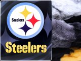 "Pittsburgh Steelers  Mink Plush Blanket - Queen 76""x94"""