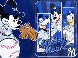 NY Yankees Disney Mickey Mouse Raschel PlushTwin Blanket