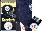 NFL The Pittsburgh Steelers Beach, Bath Towel -Helmet Logo