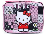 Sanrio Hello Kitty School  Lunch Bag  Snack Box - Black Quilt Patterns