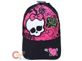 Monster High Skull Logo Baseball Cap Kids Adjustable Hat : Pink Black