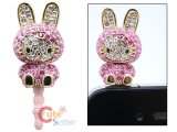 Sanrio Hello Kitty Cell phone Earphones Cap Topper : Stone Bunny Kitty