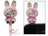 Sanrio Hello Kitty Cell phone Earphones Cap Topper : Stone Bunny Kitty