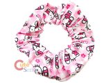 Sanrio Hello Kitty Fabric Elastic Pink Hair Band Set Pink Scrunchie