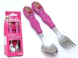 Barbie Stainless Kids meal time Spoon and Fork Silverware Set