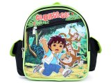 Go Diego Go Toddler School Backpack 10in Small Bag with Monkey