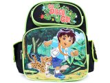 Go Diego Go School Backpack 12in Small Medium Bag with Jaguar