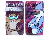 Regular Show Rigby and Mordecai  Hinge Wallet -  Check Book Flat Wallet
