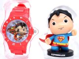 DC Comics Superman Mini Figure Watch Set