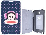 Paul Frank Samsung Galaxy Note Flip Cover Phone Case -Head Phone