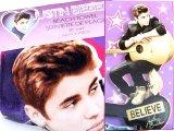 Justin Bieber Bath Beach Towel - BELIEVE Purple Star