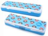 Paul Frank Plastic Pencil Case Slip Open Box - Blue Classic Face