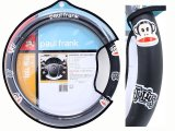 Paul Frank Faux Leather Carbone Grip Auto Car Steering Wheel Cover