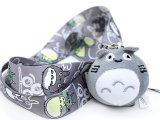 My Neighbor Gray Totoro Plush Doll with Lanyard Key Chain