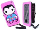 POP Heroes Funko Superman Neon Universal Phone Case Hinge Wallet