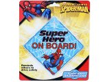 Marvel Spiderman  Auto safety Sign  - Super Hero On Board