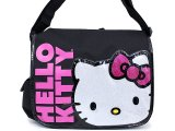 Sanrio Hello kitty Silver Face School Messenger Bag with Pink Bow