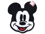 Disney Mickey Mouse Face Cotton Rug Bathroom Bedroom Mat (20inx30in)