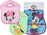 Disney Minnie Mickey Mouse Friends Bibs 3pc Set for Girl