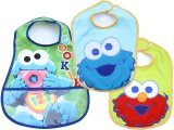 Sesame Street Baby Elmo and Cookie Monster Bibs 3pc Set for Boy