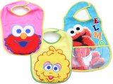 Sesame Street Baby Elmo and Friends Bibs 3pc Set for Girl