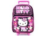 Sanrio Hello Kitty School Large Roller Backpack :Paisley Flower  Black