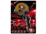 NFL San Francisco 49ers Twin Plush Blanket -Sky Helmet