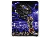 NFL Baltimore Ravens Twin Plush Blanket -Sky Helmet