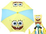 Nick Jr. SpongeBob Kids Umbrella -Face Yellow Blue