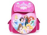 Disney Princess with Brave School Backpack 16in Large Bag