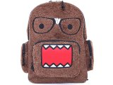 NHK Domo Kun Nerd Plush School Backpack 16in Large Bag