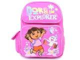 "Dora and Boots Pink School Backpack  14"" Medium Bag"