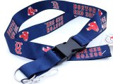 Boston Red Sox  Lanyard MLB Key Chain - Navy