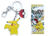 Pokemon Pikachu Poke Ball  Pendent Key Chain